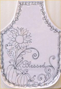 """""""Blessed"""" Fall Apron - Project by DecoArt"""