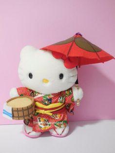 Sanrio Region Limited Kimono Hello Kitty Holding Umbrella