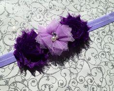 Purple Folded Tulle Flower Headband by BrittsBeautyBoutique, $7.75