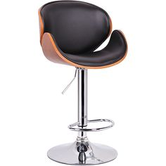 Curved for comfort and styled to impress, the Crocus Bar Stool loves the limelight. Foam padding and black faux leather add ample comfort to this spectacular stool while the 360-degree swivel and adjustable seat height allow maximum function.