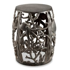 This Octopus Garden Stool from Select Home Decor & More is sure to please the sea enchataned enthusiast. This unique stool is very versatile, while adding lots of character to your outdoor living as well as indoor living space.