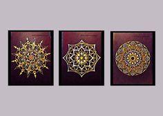 A personal favorite from my Etsy shop https://www.etsy.com/listing/489411926/set-of-mandala-wall-prints-mandala-wall