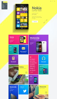 Homepage Design by Julien Renvoye. Grid. Colorful. Neon. Modern. Product page.