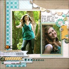 Fabulous layout featuring those high school portrait photos!  Her colors are just perfect!  Tamara