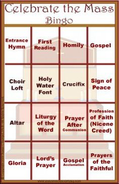 There are be more than 20 different bingo games specifically designed to provide information and intruction about the Catholic faith. What a wonderful teaching tool to use in class, Sunday School, a church event, or a family game night. Catholic Schools Week, Catholic Religious Education, Catholic Mass, Catholic Crafts, Catholic Religion, Church Crafts, Ccd Activities, Religion Activities, Teaching Religion