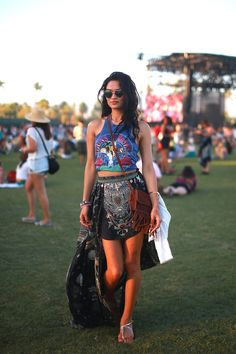 Shanina Shaik, Model off duty - With the Band: Coachella 2015 Street Style  - HarpersBAZAAR.com