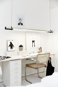 Great workspace simple and white