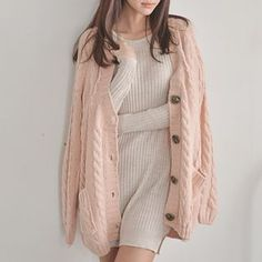 Buy Bongjashop V-Neck Cable-Knit Cardigan at YesStyle.com! Quality products at remarkable prices. FREE WORLDWIDE SHIPPING on orders over US$35.