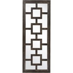 Liven any setting with this decorative mirror. Crafted using 100-percent MDF this mirror is sure to be the accent you've been searching for.