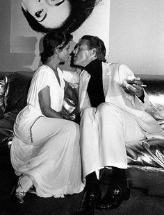 B Jagger & Halston at 54