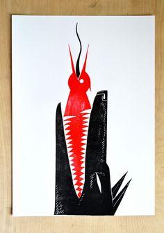 Linocuts 2014 / Masha Shishova | AA13 – blog – Inspiration – Design – Architecture – Photographie – Art