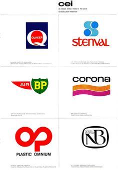 Logos des années 70, créés par la Compagnie de l'Esthétique Industrielle fondée par Raymond Loewy