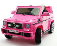 Mercedes G65 AMG 12V Power Ride On Toy Car with Parental Remote   PINK