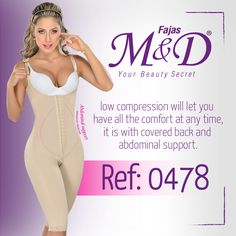 Reference F0478,girdle with a low compression, it gives you all the comfort that you need,it is with covered back and abdominal support Fajas MYD Secret's Beauty