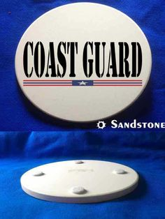 This great Coast Guard Sandstone Coaster is a must-have. Full color design custom baked into the stone for long lasting color; felt pads to prevent table scratching; strong, durable & absorbent for all types of drink ware.