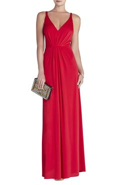 144a52c10610 Hali V-Neck Gown | BCBG Black Tie Wedding Attire, Black Tie Wedding Guests