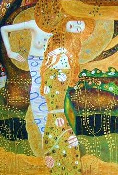 "Gustav Klimt ""Water Serpents i"""