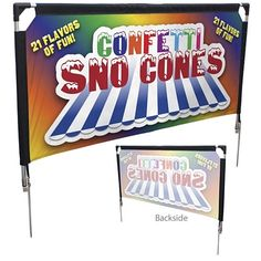 Customized Four Season Event Barrier Single-Sided Kit #signs #marketing #displays #branding  | Promotional Outdoor Sign Displays | Branded Trade Show Products