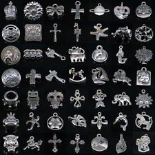 Wholesale 57 Styles Pendant Necklace Charm Tibet Silver Jewelry Making Beads