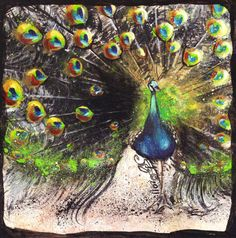 Peacock tile.