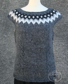 Icelandic Wool Vests made with quality Icelandic Wool. Hand knitted with Traditional Icelandic Design Pattern