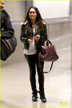 Vanessa Hudgens Sports Eyeglasses at LAX Airport | Vanessa Hudgens Photos | Just Jared