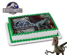 Jurassic World Cake Topper. Jurassic World DIGITAL FILE. Blue Birthday Cakes, Birthday Party At Park, Dinosaur Birthday Party, 7th Birthday, Birthday Ideas, Blue Jurassic World, Blue Cakes, Bakery Cakes, Lucca
