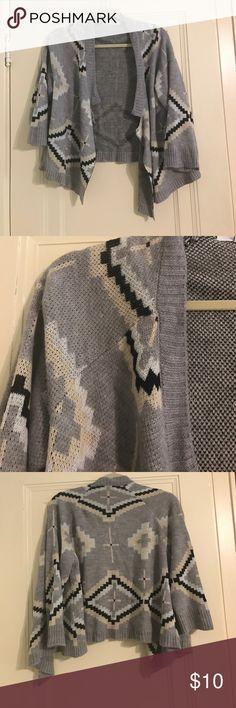 Jack Tribal Print Grey Cardigan Loose cardigan, grey base color, super comfy Jack by BB Dakota Sweaters Cardigans