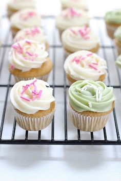 Healthier Mini Vanilla Cupcakes. Great to freeze for a cool refreshing bite this summer!