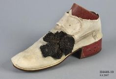 1761 Court shoes in 1728 style, Powerhouse Museum