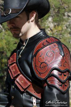 Musketeer leather spaulder by AtelierFantastique.deviantart.com on @DeviantArt