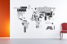 World Map wallsticker