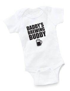 Daddy's Brewing Buddy Onesie Bodysuit Baby Shower Gift Funny Boy Girl Craft Beer Hobby Brewer Brewery for Snyder baby