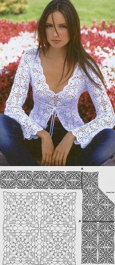 Fabulous Crochet a Little Black Crochet Dress Ideas. Georgeous Crochet a Little Black Crochet Dress Ideas. Crochet Bolero, Gilet Crochet, Crochet Jacket, Crochet Cardigan, Crochet Stitches, Crochet Diagram, Crochet Patterns, Crochet Summer Tops, Knit Crochet
