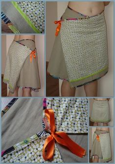 cool hide a zipper idea - can't find original post so just a pictureLink doesn't work but, pinning anyway for the neat pockets. Diy Clothing, Sewing Clothes, Recycle Old Clothes, Handmade Skirts, Creation Couture, Skirt Tutorial, Couture Sewing, Mode Inspiration, Refashion