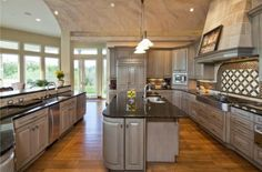 grey silver kitchen cabinets