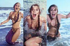 Una sesión promocional del Retorno del Jedi hecha en 1983 han sido recuperadas por 'Rolling Stone'. En ellas, Fisher viste el icónico bikini dorado de Leia en la playa.