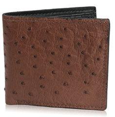 Genuine Ostrich Skin Leather Bifold Wallet with 8 Card Slots Handmade Leather Wallet, Leather Bifold Wallet, Look Good Feel Good, Branded Wallets, Leather Accessories, Cow Leather, Card Wallet, Leather Wallets, Ebay