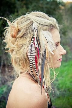 Hairextensions veertjes