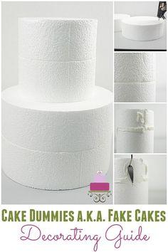 Cake Dummies a. Fake Cakes Cake Dummies a.a Fake Cakes Decorating Guide Fake Wedding Cakes, Wedding Cake Prices, Diy Wedding Cake, Wedding Ideas, Easy Cake Decorating, Cake Decorating Techniques, Cake Decorating Tutorials, Decorating Ideas, Biscuit