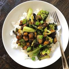 Eggplant and Broccoli in Garlic Sauce – healthyGFfamily.com