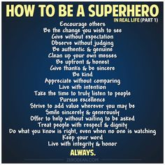 How to be a Superhero in Real Life (part 1) #zerosophy