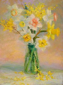 Daffodil Bouquet by Kathleen Kalinowski Pastel ~ 12 x 9