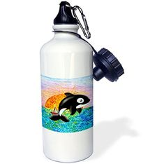 """Camping Kitchen :""""3dRose wb_5729_1 Killer Whale Sports Water Bottle : 21 oz : White"""" *** Check this awesome image  : Camping Kitchen"""