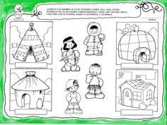 Wie hoort in welk huis? Free printable Formation Montessori, Bible Mapping, Les Continents, Around The World In 80 Days, Activity Sheets, Bible Lessons, English Lessons, Kindergarten Activities, Life Science