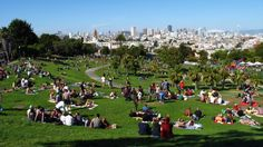 Dolores Park, SF ... one of my favorite places in the world. I took my fiance there for our second date!