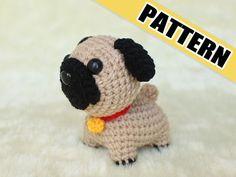 PATTERN: A Little Pug Crochet Amigurumi Doll