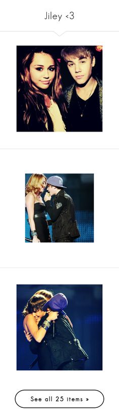 """Jiley <3"" by bieber-fever-swag ❤ liked on Polyvore featuring jiley, justin bieber, miley cyrus, icons, justin, pictures, miley, images, home and home decor"