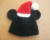 mickey santa hat