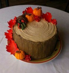 Such a cool looking Fall cake! Use your imagination on how to make it. ;-)